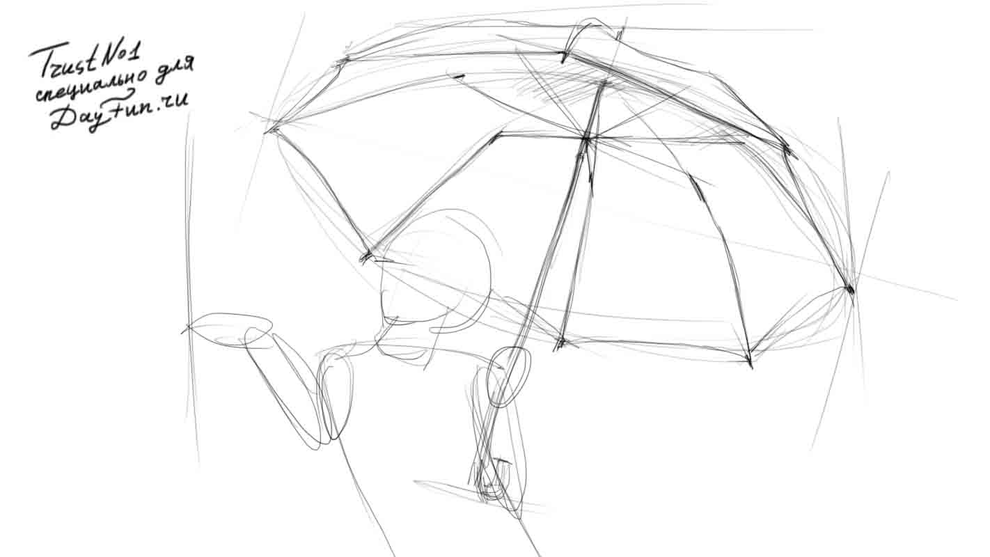 Line Drawing Umbrella : How to draw an umbrella step by arcmel