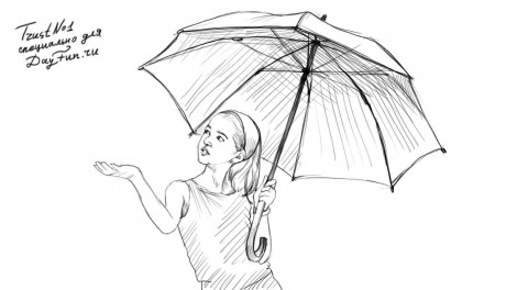 how to draw a closed umbrella