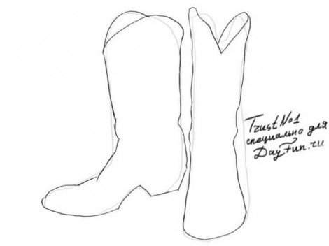 How to draw boots step by step | ARCMEL.COM