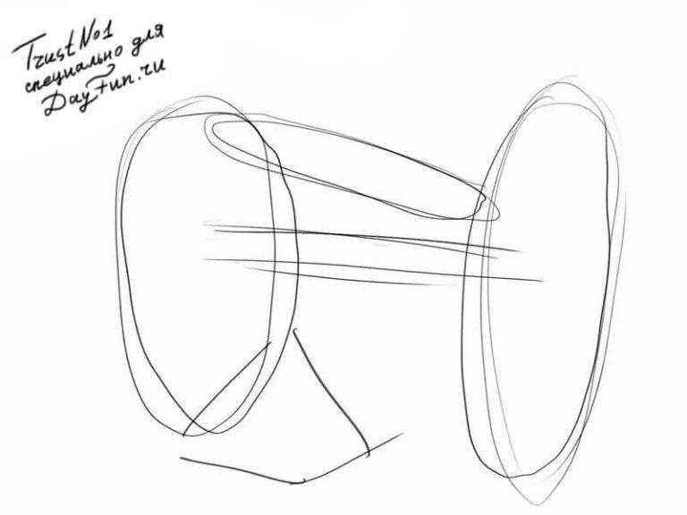 how to draw a cannon step by step
