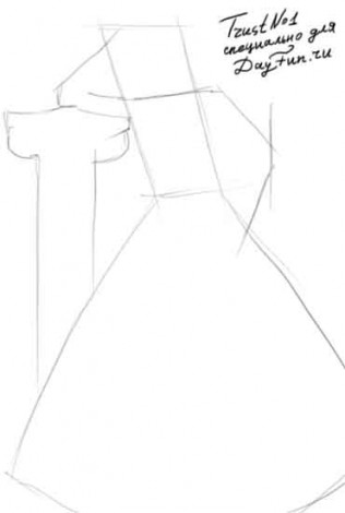 How to draw dress step by step 1