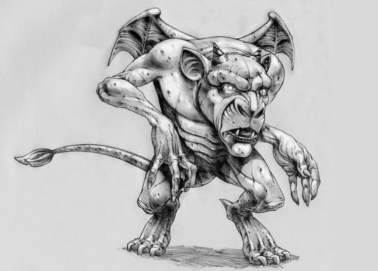 Line Drawing Monster : How to draw monster step by arcmel