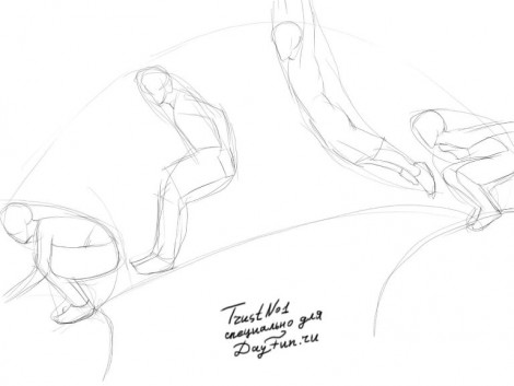 How to draw parkour step by step 2