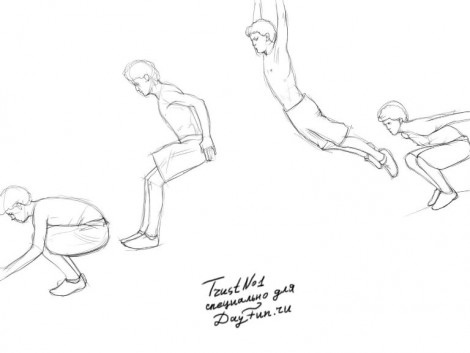 How to draw parkour step by step 3
