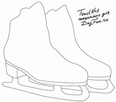 How to draw skates step by step 1