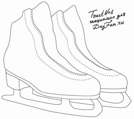 How to draw skates step by step 2