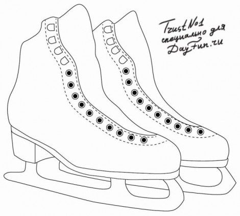 How to draw skates step by step 3
