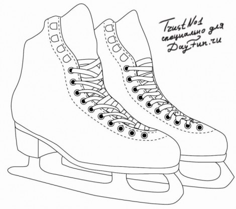 How to draw skates step by step 4