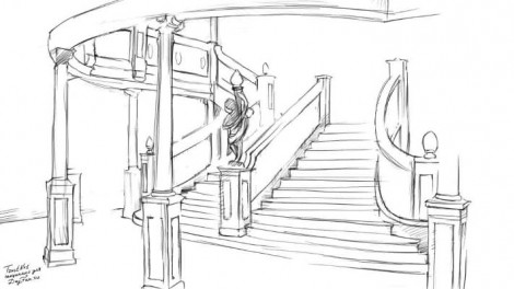 How to draw staircase step by step 3