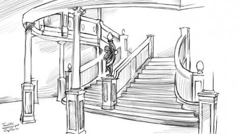 How to draw staircase step by step 4