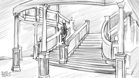 How to draw staircase step by step 5