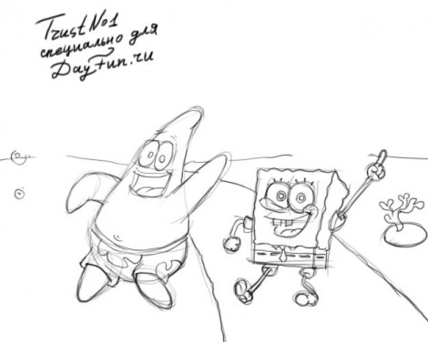 How to draw Patrick step by step 3