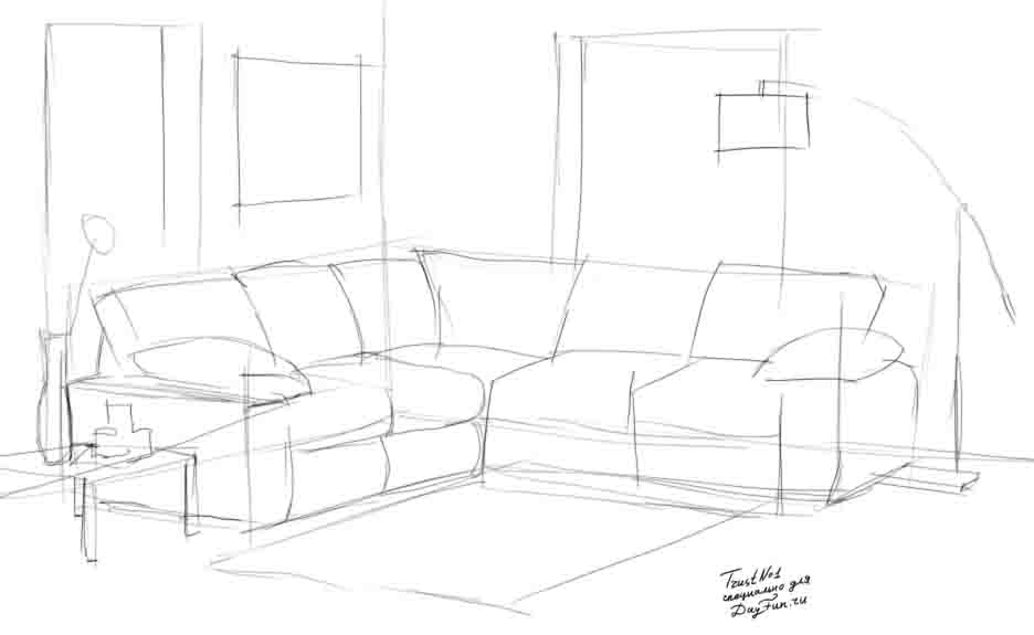 how to draw a sofa step by step arcmel com