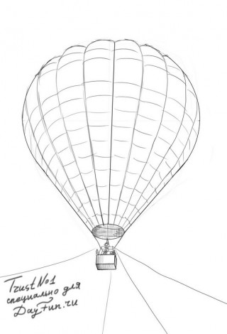 How to draw balloons step by step 4