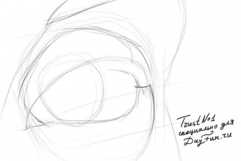 how to draw an empty eye socket