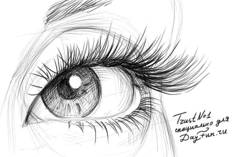How To Draw Eyelashes Step By Step Arcmel