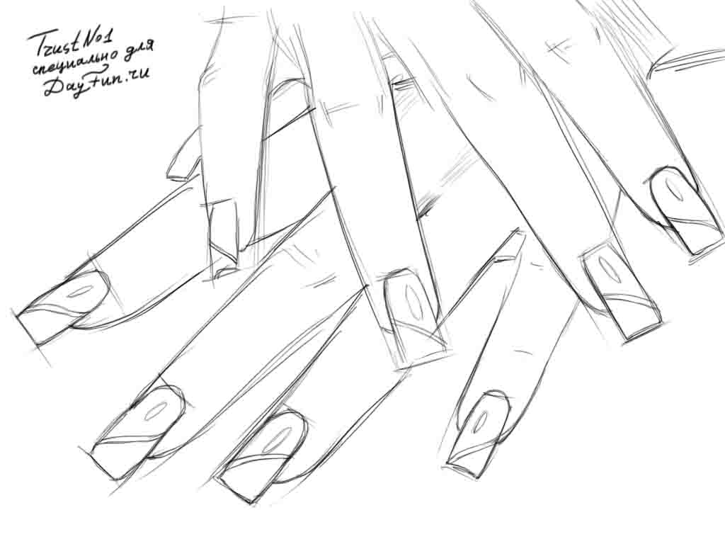 how to draw nails step by step arcmel com