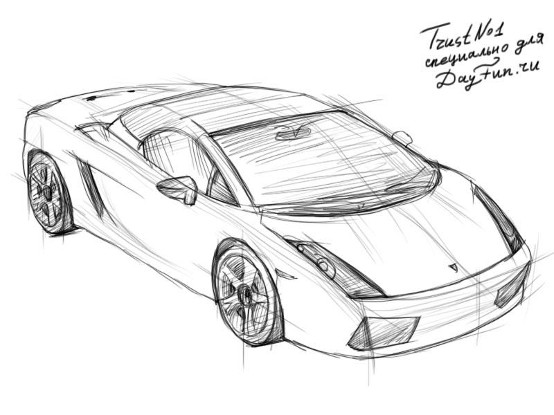 how to draw lamborghini step by step 4