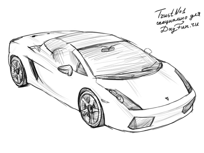 How to draw Lamborghini step by step | ARCMEL.COM