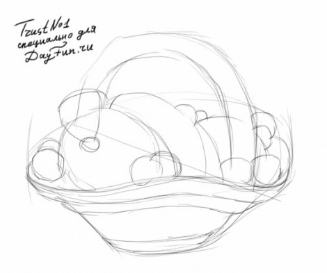 How to draw a basket step by step 2
