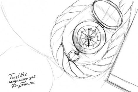 How to draw a compass step by step 3