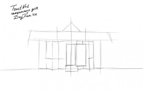 how to draw a roof step by step