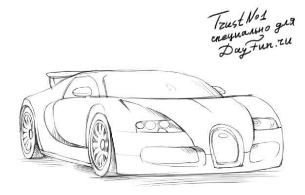 how to draw a ford gt 2017 step by step