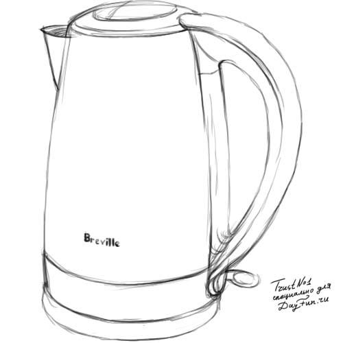 How To Draw A Kettle Step By Step Arcmel Com