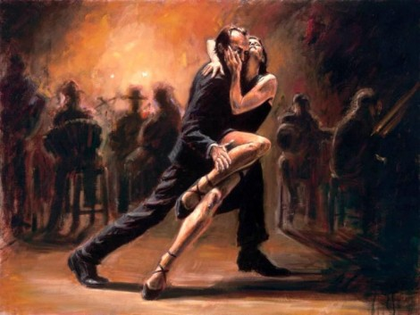 How to draw tango dance