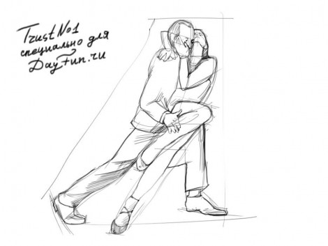 How to draw tango dance step by step 3