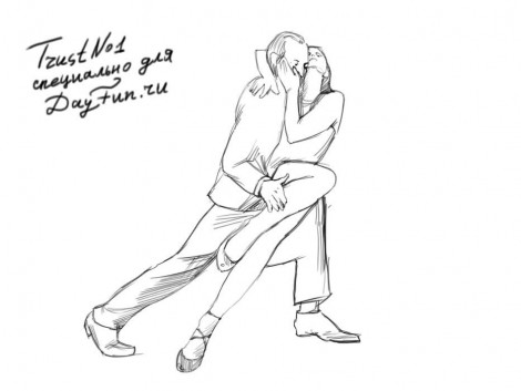 How to draw tango dance step by step 4