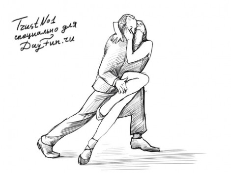 How to draw tango dance step by step 5