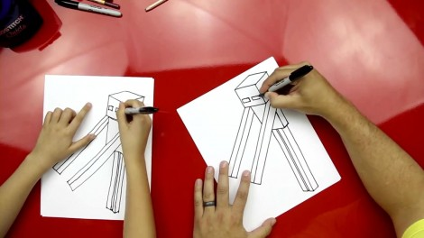 how to draw enderman step by step 4