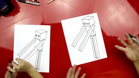 how to draw enderman step by step 5
