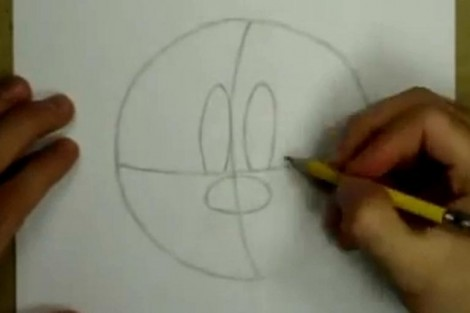 how to draw minnie mouse step by step 1