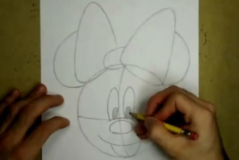 how to draw minnie mouse step by step 2