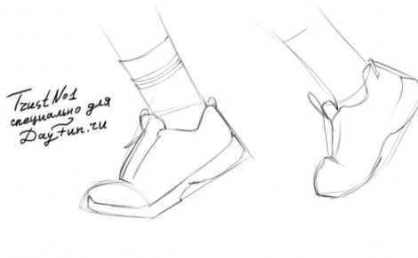 how to draw sneakers step by step 2