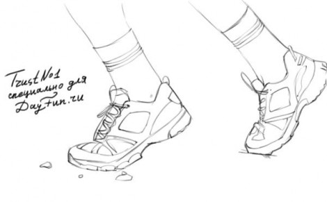 how to draw sneakers step by step 3