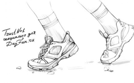 how to draw sneakers step by step 4
