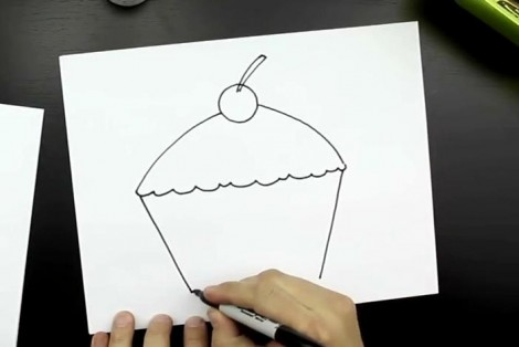 How to draw cake step by step 3