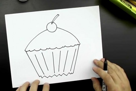 How to draw cake step by step 4