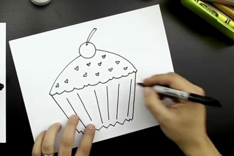 How to draw cake step by step 5