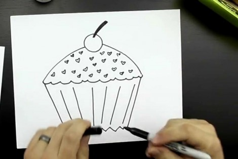 How to draw cake step by step 6