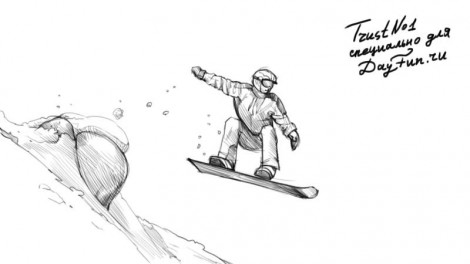 How to draw snowboarder step by step 4