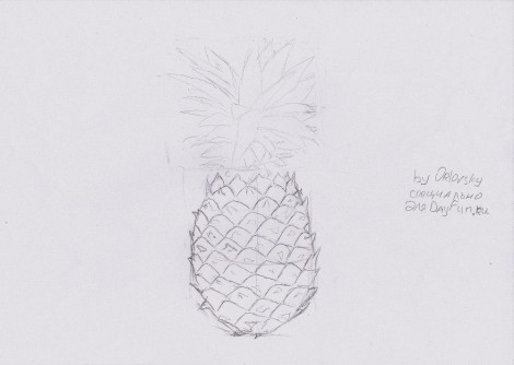 how to draw a pineapple step by step 5