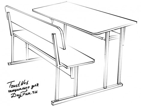 how to draw a school desk step by step 3