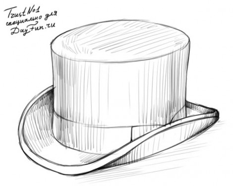 how to draw a top hat step by step 4