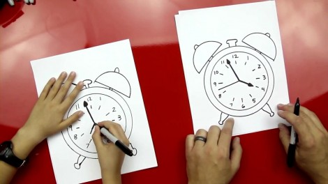 how to draw alarm clock step by step 6