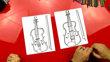 how to draw cello