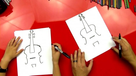 how to draw cello step by step 5